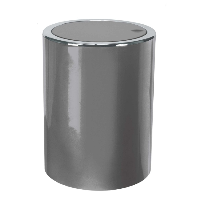 Tap Mini Swingtop Bin Platinum