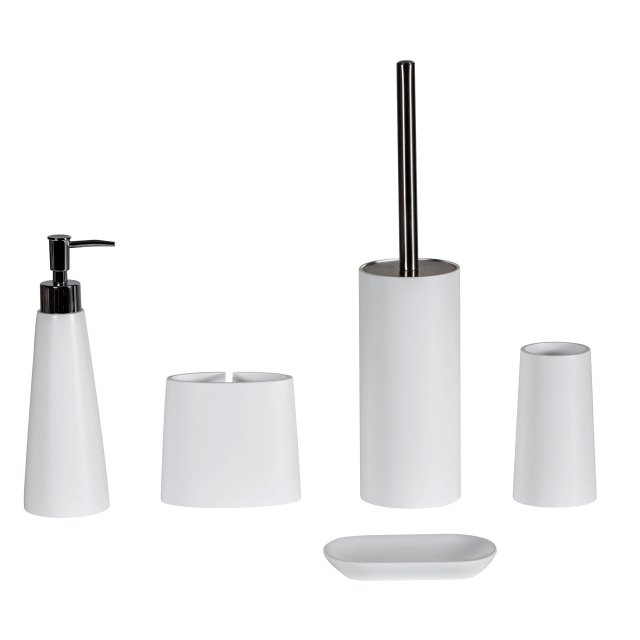 Soprano Toilet Brush & Holder White