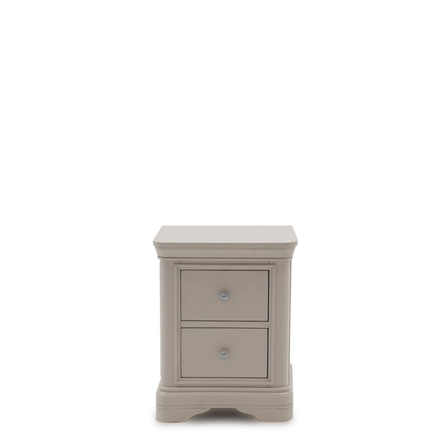 Avignon - Bedside Chest Taupe Painted Finish