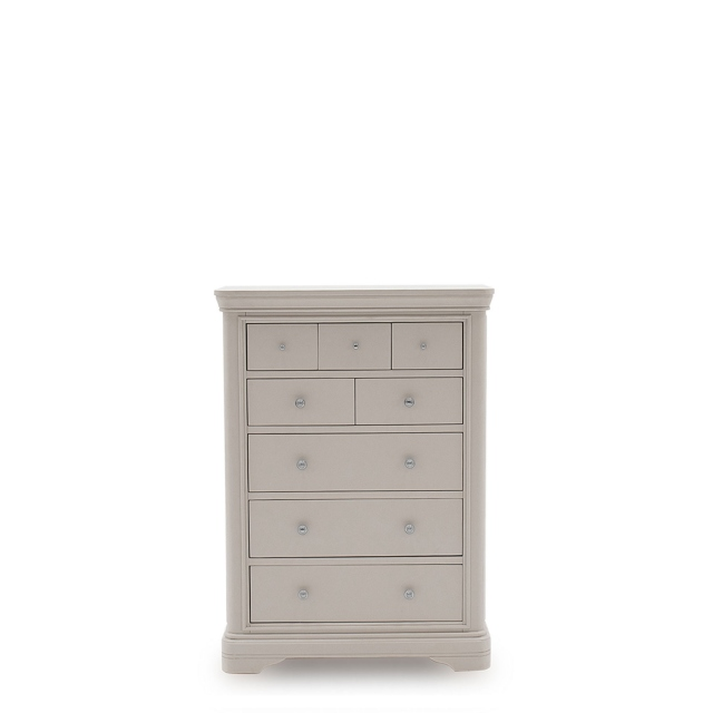 Avignon - 8 Drawer Chest Taupe Painted Finish