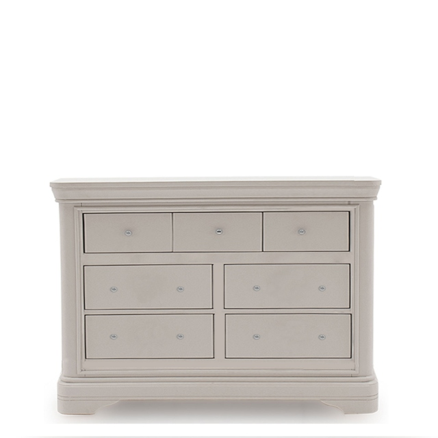 Avignon - 7 Drawer Wide Chest Taupe Painted Finish