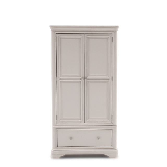 Avignon - 2 Door 1 Drawer Wardrobe Taupe Painted Finish