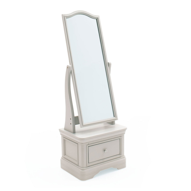 Avignon - Cheval Mirror Taupe Painted Finish