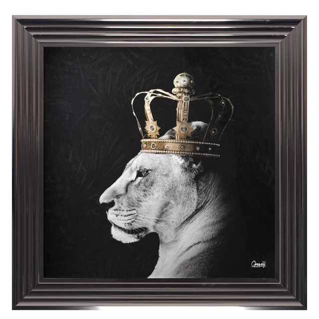 Lion 'Queen' Metallic Stepped Frame