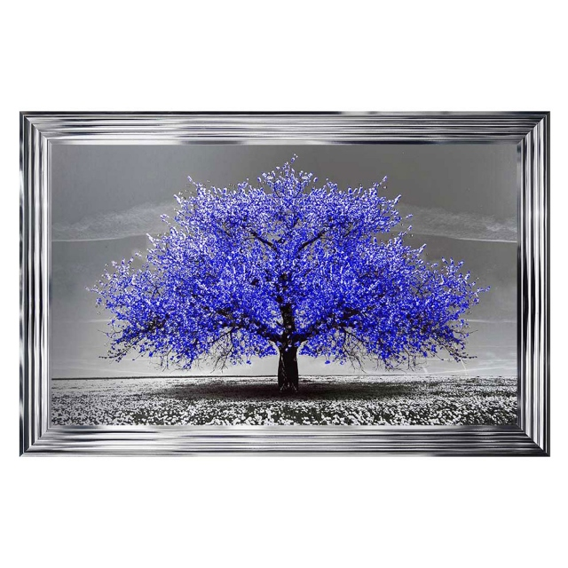The Cherry Tree Navy Chrome Stepped Frame