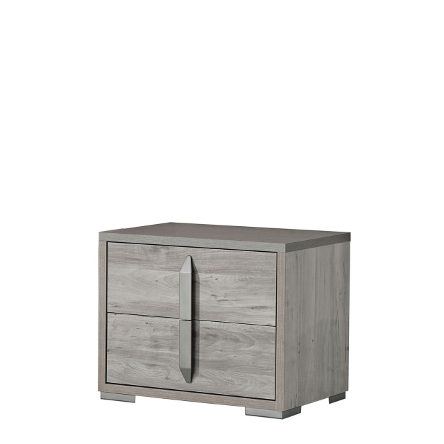 Harper - Night Table 2 Drawer Ash/Osage High Gloss Finish