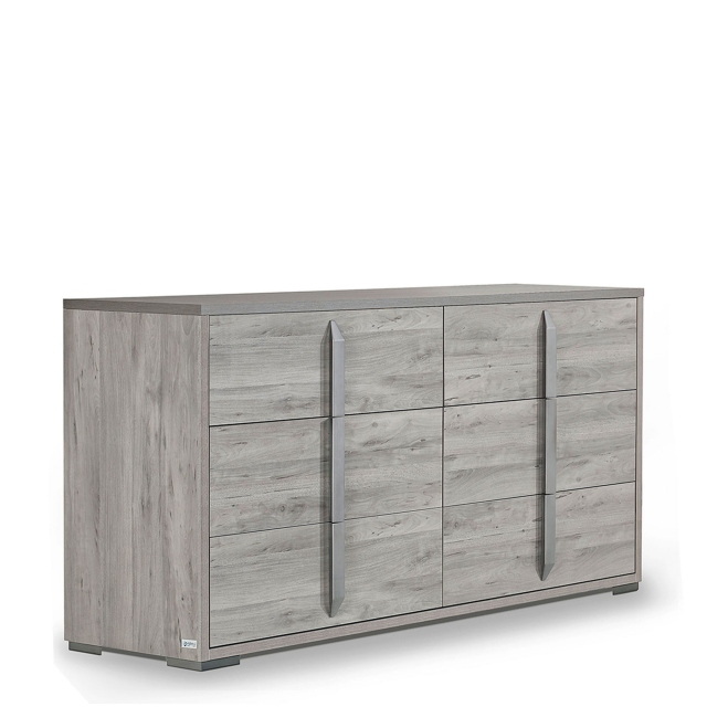 Harper - Large Chest of 6 Drawers Ash/Osage High Gloss Finish