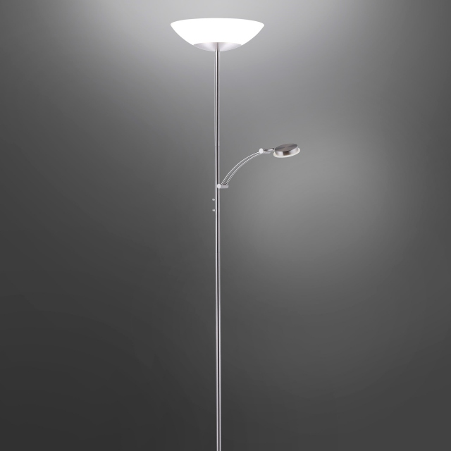 Archie Dual Floor Lamp Steel