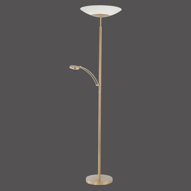 Archie Dual Floor Lamp Brass