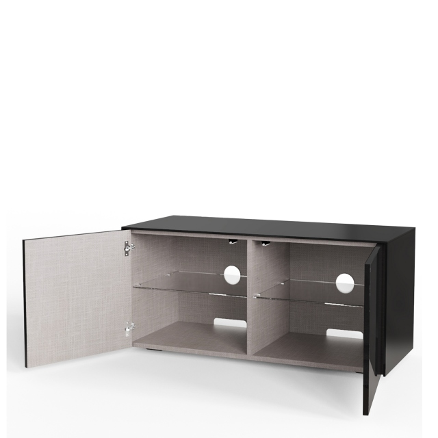 Paragon - 110CM TV Unit In Black Gloss