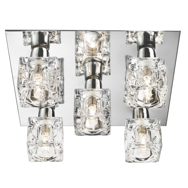 Bloc 5 Light Flush Chrome