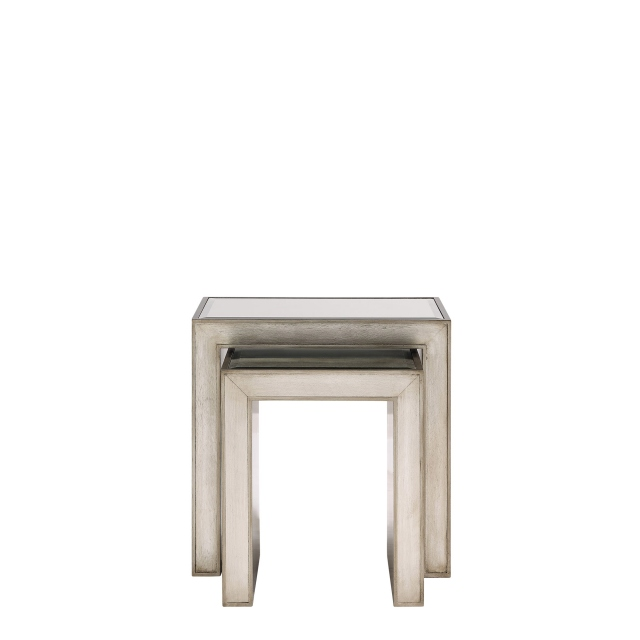 Horizon - Nest of Tables - Silver Paint Finish