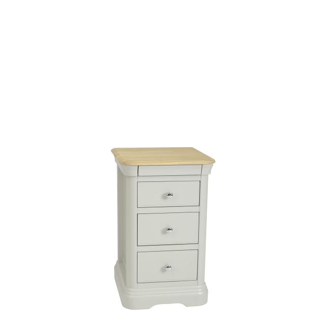 Oliver - Bedside Chest 3 Drawers Morning Dew/Mist Top