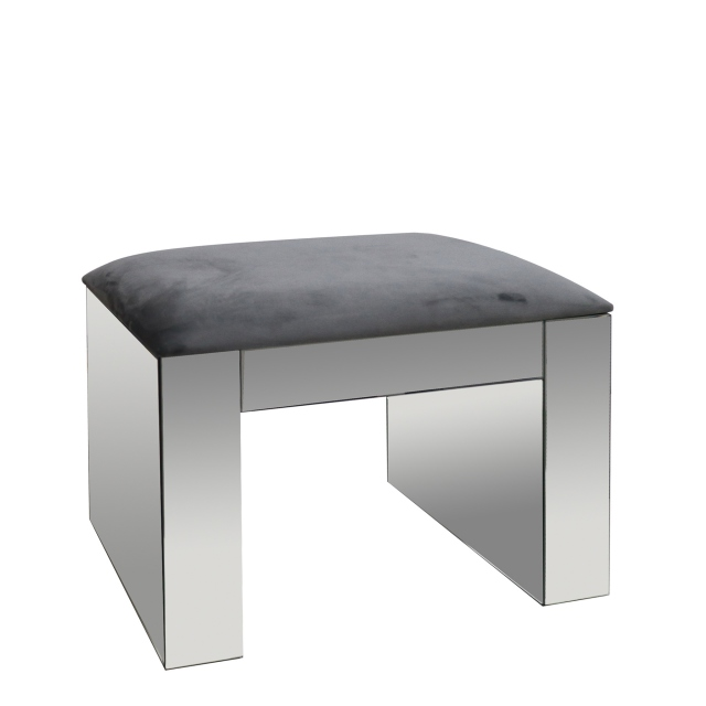 Sofia - Dressing Stool Silver Mirror