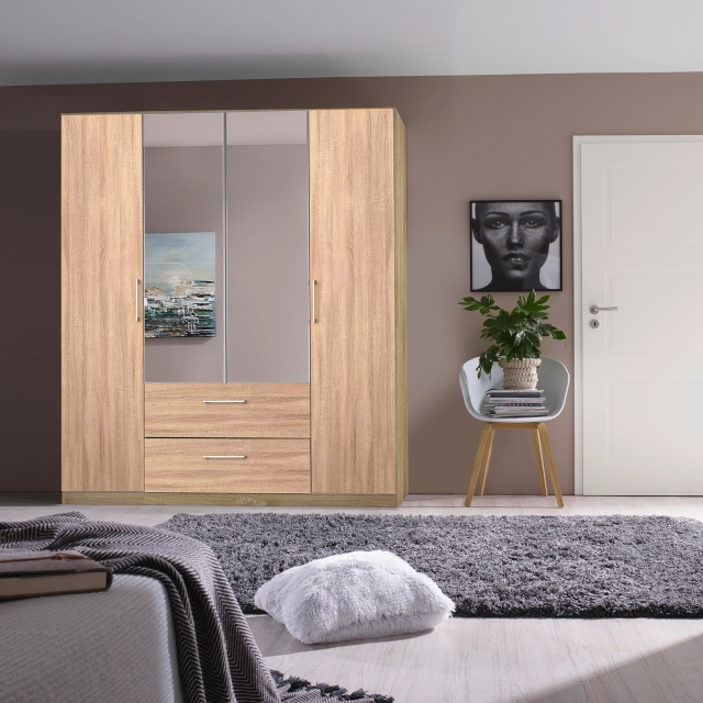 Cologne - 2 Door/2 Drawer Hinged Robe 1 RHH Mirror Door