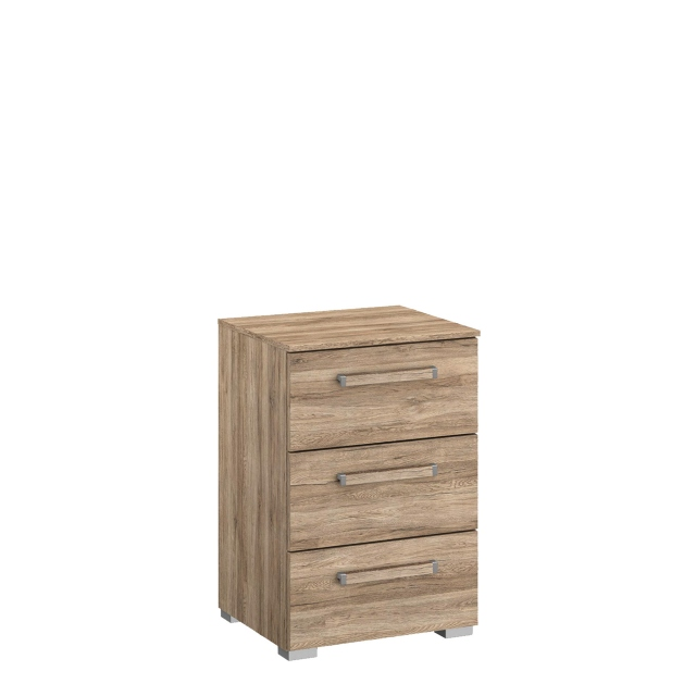 Odyssey - 3 Drawer 40cm Bedside Table