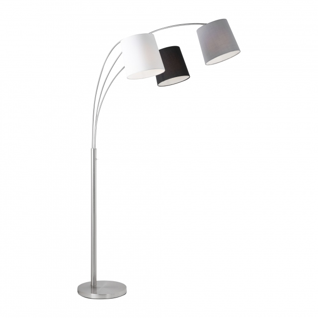 Largo LED 3 Arm Floorlamp Steel
