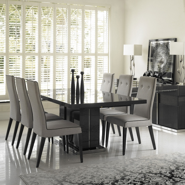 Antibes - 196cm Extending Dining Table With 6 Chairs In Fabric
