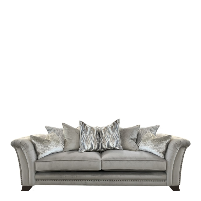 Gabriella - Pillow Back 4 Seat Split Sofa In Fabric Band 1