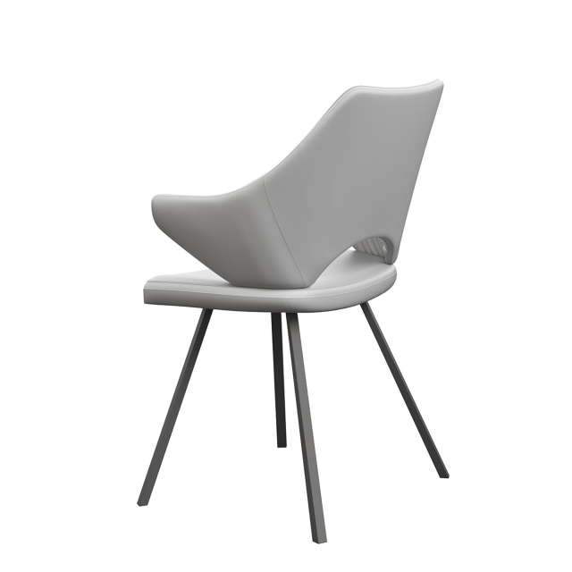 Dino - Dining Chair In Grey