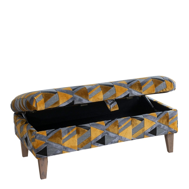 Anneka - Legged Ottoman In Fabric