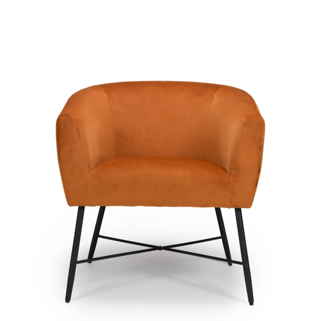 Miley - Accent Chair In Velvet 321 PN Pumpkin