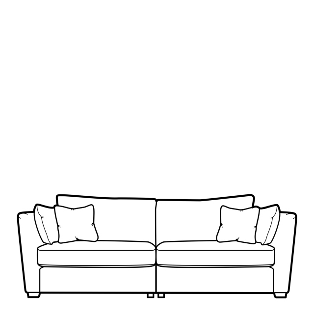 Collins & Hayes Maple - Fixed Cover Standard Back Grand Sofa In Fabric