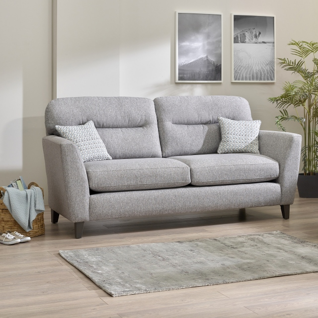 Hetty - 3 Seat & 2 Seat Sofa Fabric Moet Grey With Dark Feet