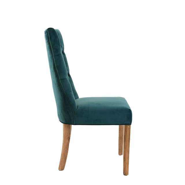 Richmond - Dining Chair in 0701-110 Blue Velvet