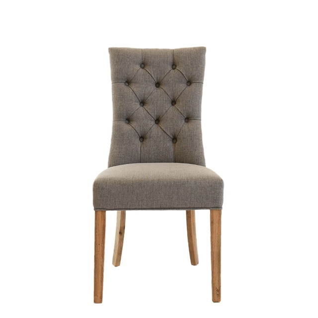 Richmond - Dining Chair in 7029-3 Grey Linen