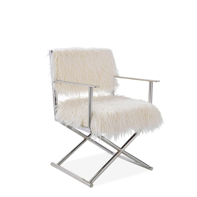 Merino - Faux Sheepskin Directors Chair