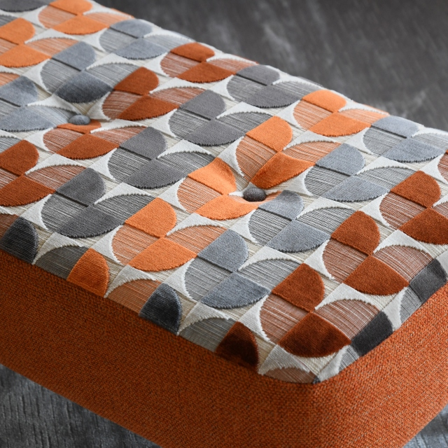 Malaga - Large Designer Bench Stool In Fabric