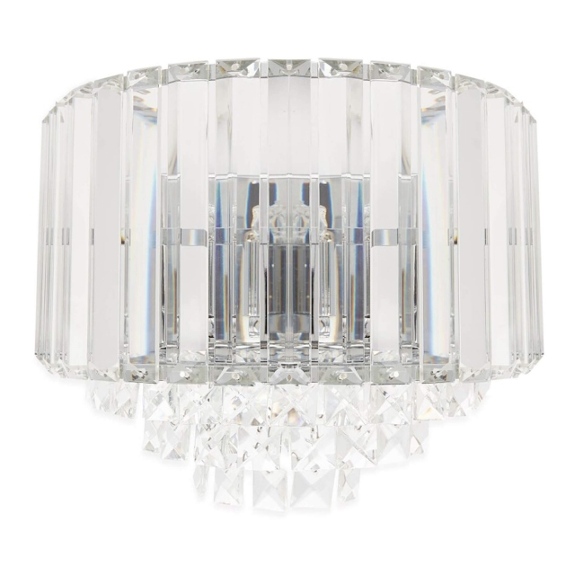 LA Collection Vienna Wall Light Crystal/Chrome