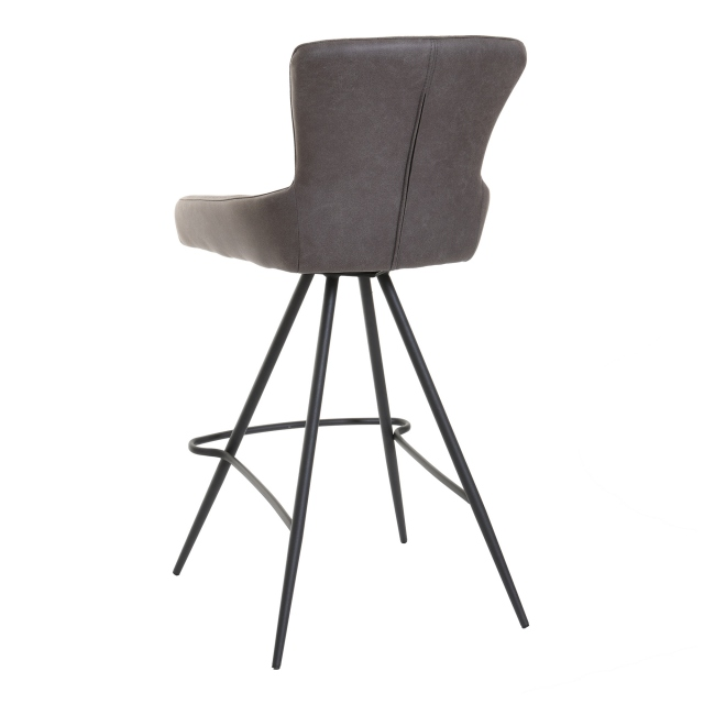 Leon - Counter Swivel Stool In Antique Brown Fabric