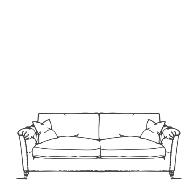 Standard Back Large Sofa - Safari
