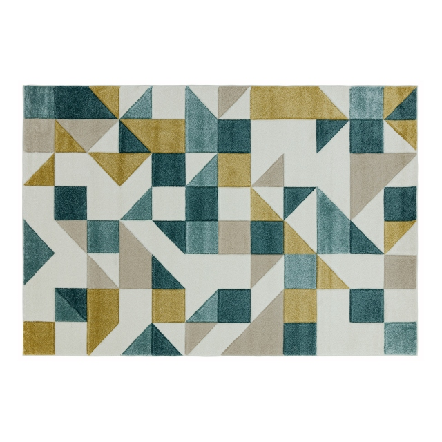Sketch Rug SK03 Shapes Green