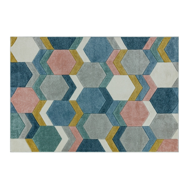 Sketch Rug SK10 Hexagon Multi