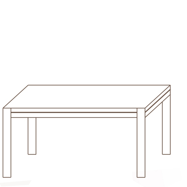 Porto - 160 x 98cm Dining Table Oak