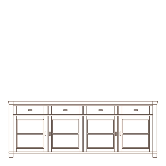 Porto - 4 Door Sideboard Oak