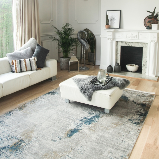 Toros Rug Illusion Ice Blue