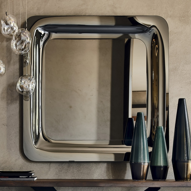 Mirror Mirrored Smoke Grey Glass - Cattelan Italia Glenn