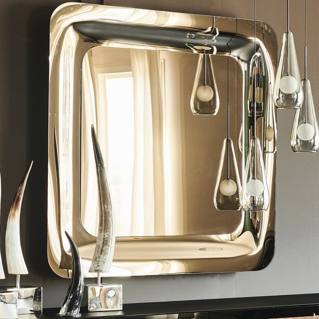 Mirror Mirrored Bronze Glass - Cattelan Italia Glenn