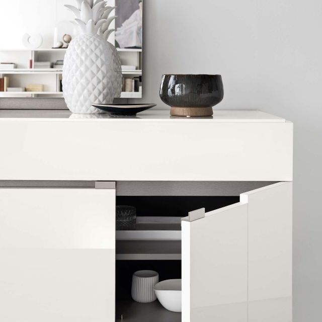 Polar - Large Buffet In White High Gloss