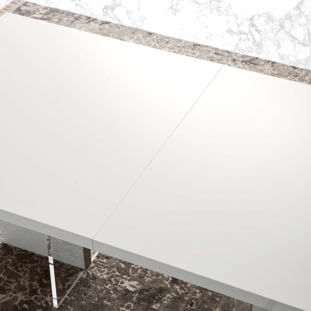 Heiron - 160cm Ext. Dining Table (Extends to 210cm)In White High Gloss
