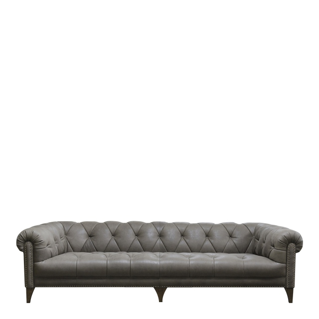 Roosevelt - 4 Seat Shallow Sofa In Leather