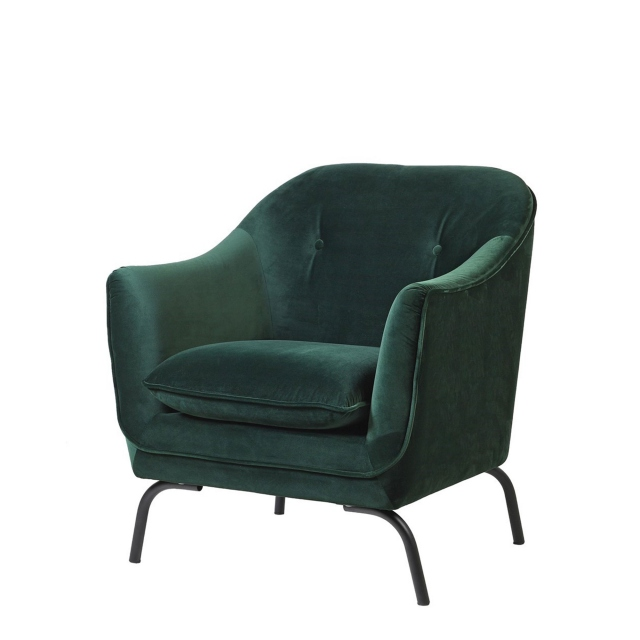 Hugo - Accent Chair In Velvet Emerald Green