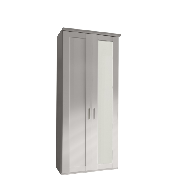 Milton  - 2 Door 100cm Hinged-door Wardrobe With 1 Door Mirrored Right