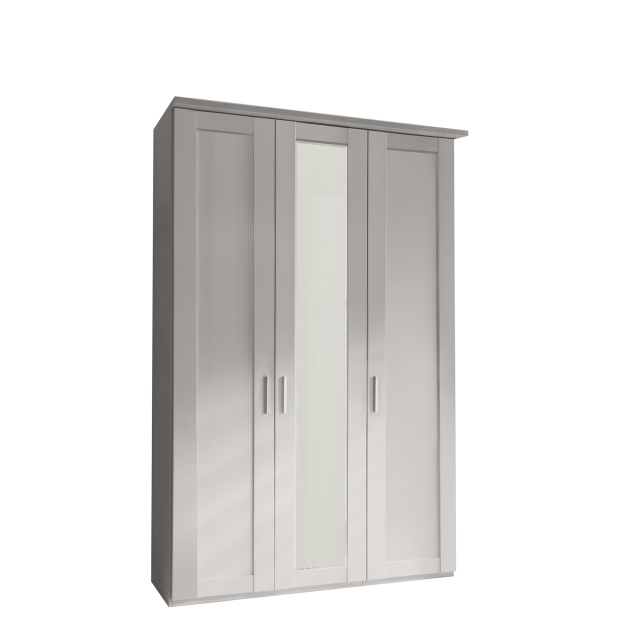 Milton  - 3 Door 150cm Hinged-door Wardobe With 1 Door Mirrored