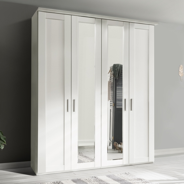 Milton  - 3 Door 150cm Hinged-door Wardobe With 3 Doors Mirrored
