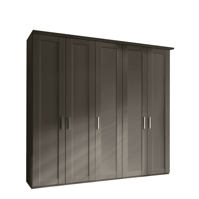 Milton  - 5 Plain Door 250cm Hinged-door Wardobe